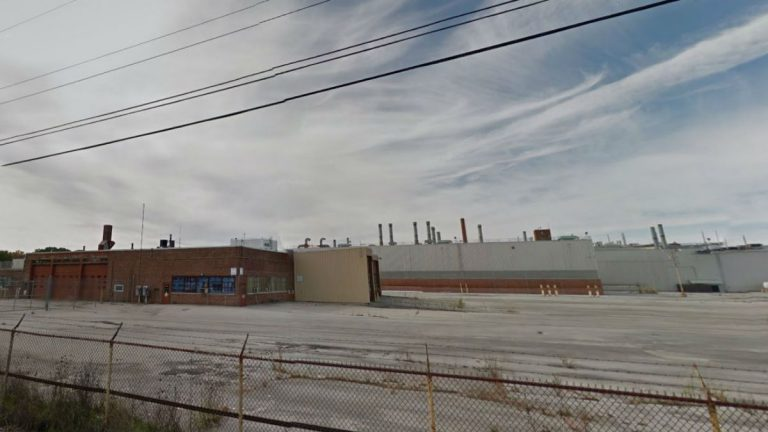 The former GM assembly plant on Boxwood Rd. is back up for sale. (photo via Google Maps)