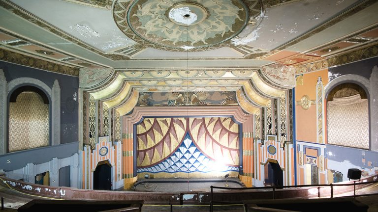 The interior of the Boyd Theatre auditorium in 2013. Most of the once-magnificent  1928 structure was torn down last year. (Chandra Lampreich)