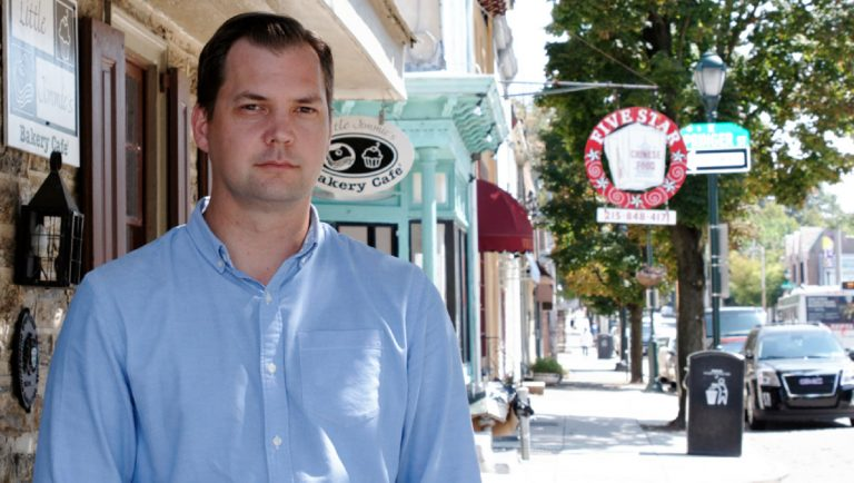 Mt. Airy USA's new executive director, Brad Copeland. (Jana Shea/for NewsWorks)