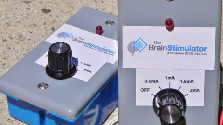 An example of a no-frills tDCS unit. (Photo courtesy of thebrainstimulator.net)