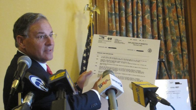 Assemblyman Jon Bramnick says the coded information on the explanation of benefit is hard for consumers to understand. (Phil Gregory/WHYY)