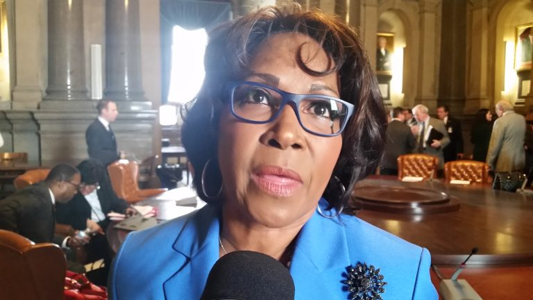 Philadelphia City Councilwoman Blondell Reynolds Brown wants corporations who make large donations to Philadelphia public schools to receive a city tax credit. (Tom MacDonald/WHYY)
