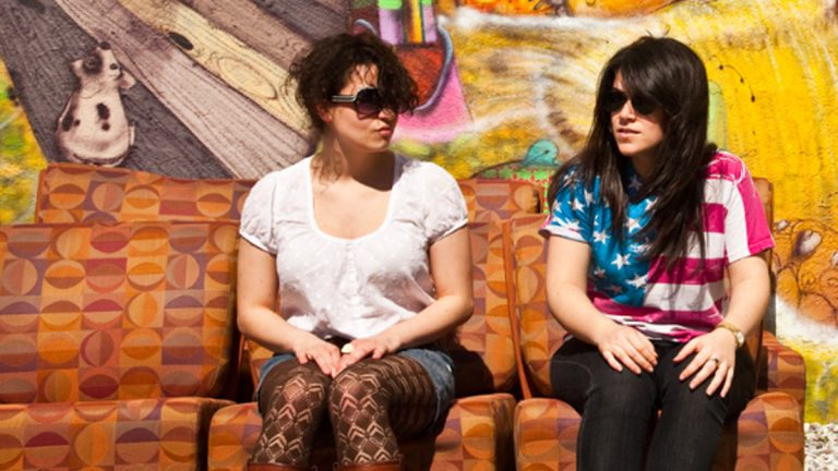 Ilana Glazer and Abbi Jacobson (playing Ilana Wexler and Abbi Abrams, respectively) star in 'Broad City,' a new show on Comedy Central. (Image courtesy of BroadCitytheshow.com)