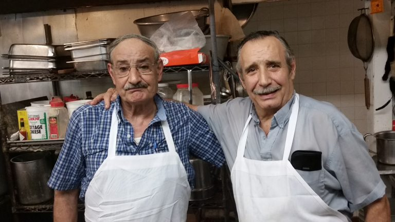 The owners of the now-closing Freeway Diner in Deptford:  Jim (left) and Nick Diamantis.