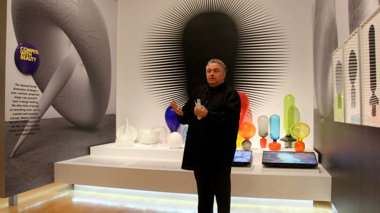 Bruce Mau's retrospective at the Philadelphia Museum of Art explores the design of design. (Emma Lee/WHYY)