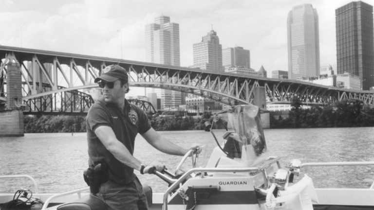 "Bruce Willis stars as Tom Hardy, a police officer demoted to river patrol with the Pittsburgh Police Department  in the 1993 movie ""Striking Distance."" (Columbia Pictures Industries, Inc.)"