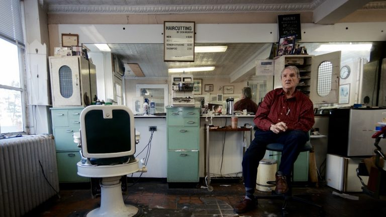 Don Murphy sitting in his shop in 2013. (Bas Slabbers/for NewsWorks)