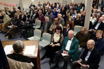 They gathered to celebrate the Falls of Schuylkill Library's 100th anniversary. (Bas Slabbers/for NewsWorks)