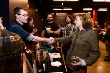 #whyilovephilly party attendees enjoyed many locally inspired brews, drinks and bites and even got a chance to meet some of the makers. (Bas Slabbers/for NewsWorks)