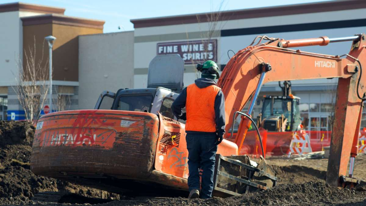 A scene from two days after the water-main break at East Falls' Bakers Centre. (Bas Slabbers/for NewsWorks, file)