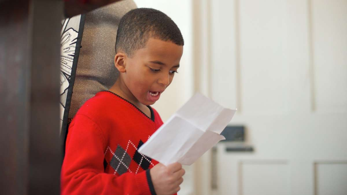At the event, four students read self-written poetry. Nathan Legette, a William Penn Charter School kindergartner, was among them. (Bas Slabbers/for NewsWorks)