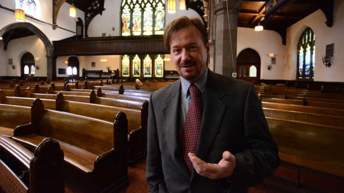 On Sunday Rev. Frank Schaefer was invited to speak to members of the First United Methodist Church of Germantown. (Bas Slabbers/for NewsWorks)