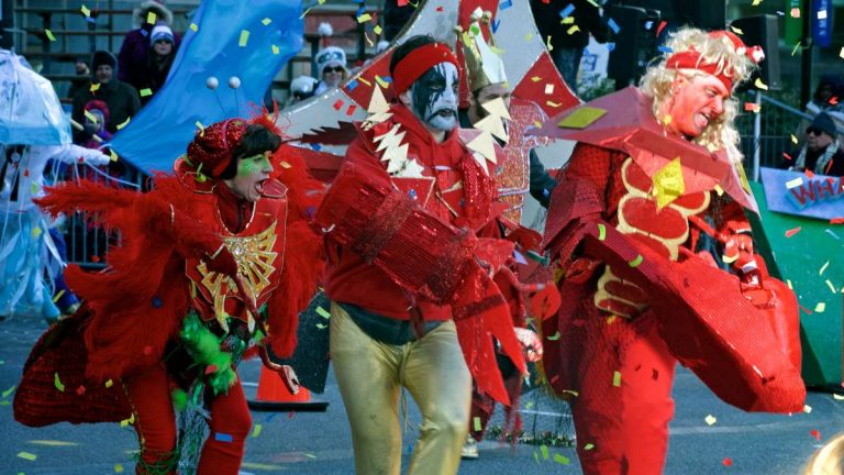 A scene from the annual Mummers parade on New Year's Day. (Bas Slabbers/for NewsWorks)