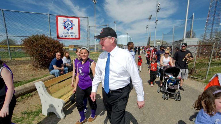 Mayoral candidate Jim Kenney at the 21st Ward Complex in Roxborough. (Bastiaan Slabbers/for NewsWorks)