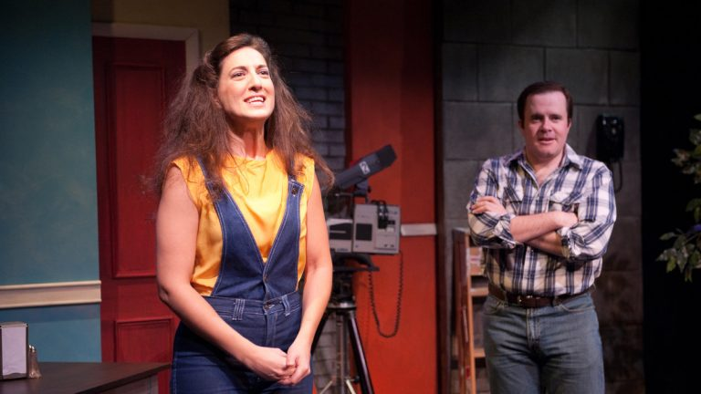 Leah Walton as Gilda Radner and Matt Pfeiffer as Alan Zweibel in 1812 Productions'