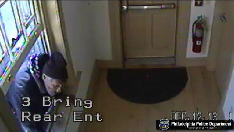 Surveillance footage of last week's burglary at the historic Bringhurst House. (Courtesy of Philadelphia Police)
