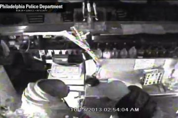 Surveillance footage of a Sunday morning burglary at Victor's Tavern. (Courtesy of PPD)