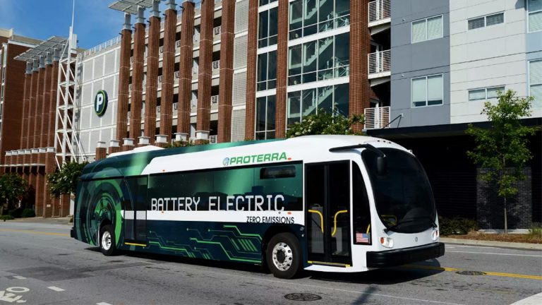 Battery electric buses will run in Kent County by the end of next year. (courtesy of Proterra)