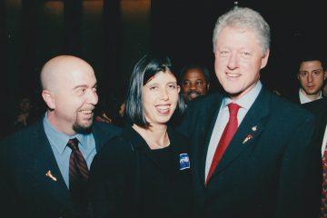 Campaign worker Ken Snyder (left)