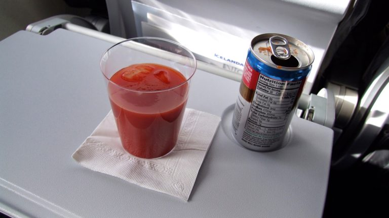 At 30,000 feet, tomato juice simply tastes different than at sea level. (Claus Ableiter/Creative Commons)