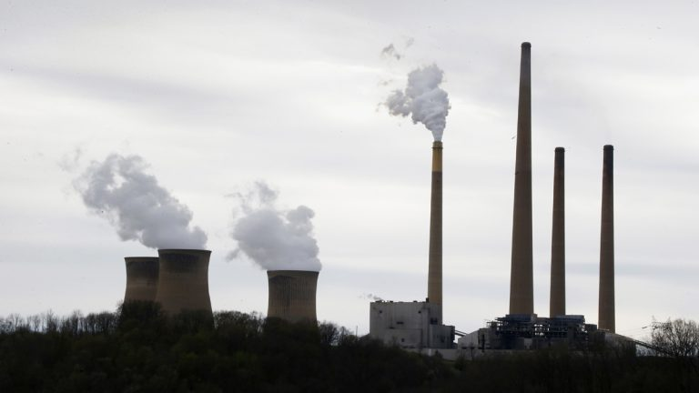 The stacks of the Homer City Generating Station in Homer City, Pa., are shown in this 2014 file photo. (Keith Srakocic/AP Photo)