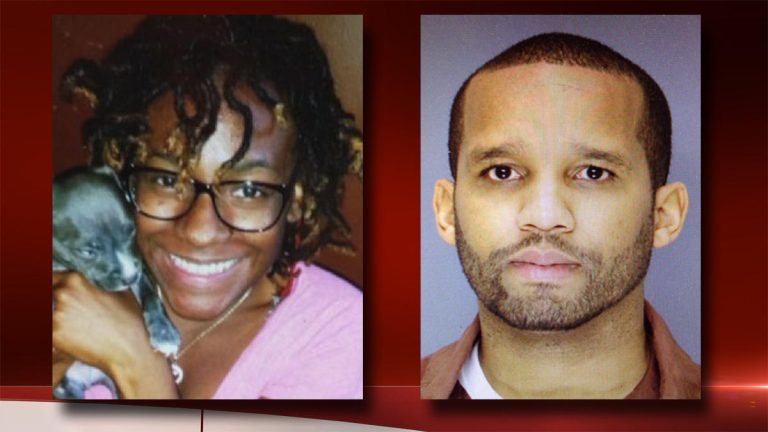 Carlesha Freeland-Gaither, 22, was abducted off a street in Germantown last week. Investigators believe Delvin Barnes (right) was responsible. (Image courtesy of NBC10)