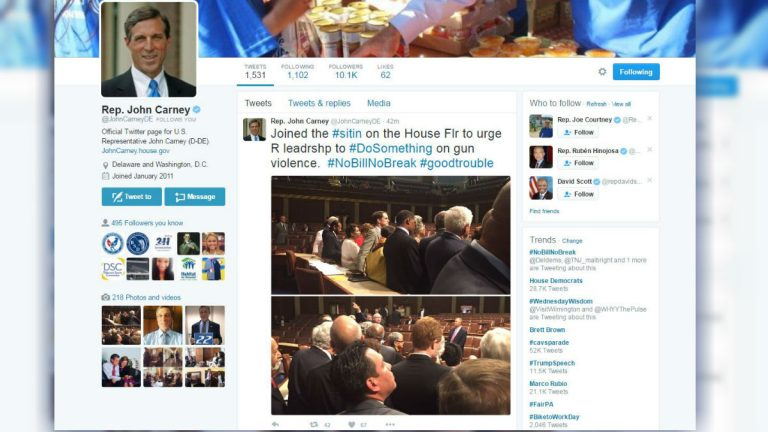 This screen grab shows the Twitter page of U.S. Rep. John Carney