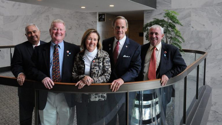 Sen. Carper met volunteers from the American Red Cross Delmarva Region today and thanked them for their service during Superstorm Sandy. (photo courtesy Sen. Carper's office)