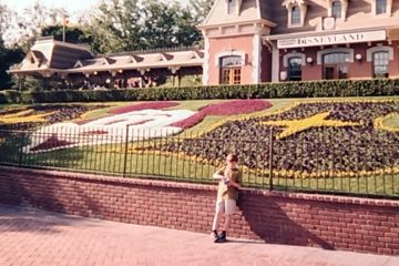Trevor Cassidy is shown as a child at the front gates of Disneyland in Anaheim, Calif. (Image courtesy of Trevor Cassidy)