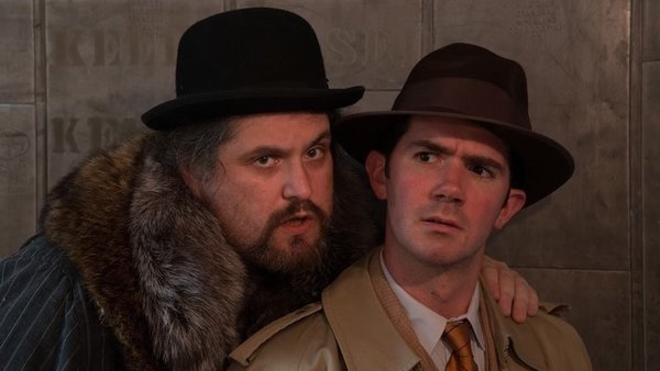 Ethan Lipkin (left) and David Stanger in the Idiopathic Ridiculopathy Consortium's production of