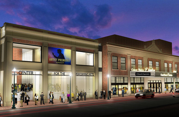An artist's rendering of the Count Basie Theatre renovation.