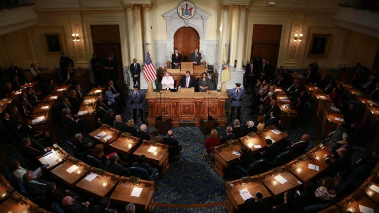 Gov. Chris Christie tells a joint session of the New Jersey Legislature Tuesday that addiction is the single most important issue he wants to address in this final year of his second term. (Tim Larsen/Governor's Office)