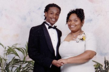 The author is shown with her brother at her senior prom. (Cecily Alexandria)