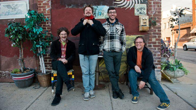 Chris Forsyth (left) and the Solar Motel Band. (Photo courtesy of Kait Privitera/No Quarter Records)