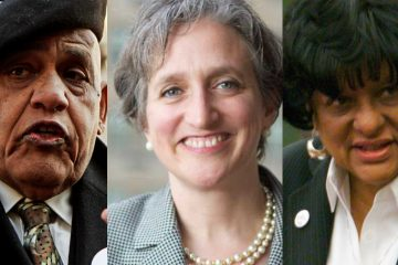 Nominating petitions of, from left, Milton Street, who is running for mayor; Stephanie Singer, cmapaigning to keep her seat as a Philadelphia commissioner; and Councilwoman Jannie Blackwell, seeking re-election, have been challenged. (NewsWorks File Photos)