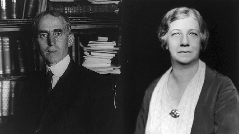Historians Charles and Mary Beard.
