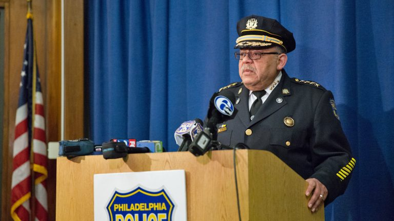Philadelphia Police Commissioner Charles Ramsey speaks about year-end crime statistics in the city.  He will retire in January after eight years as Philadelphia's top cop.  (Lindsay Lazarski/WHYY)