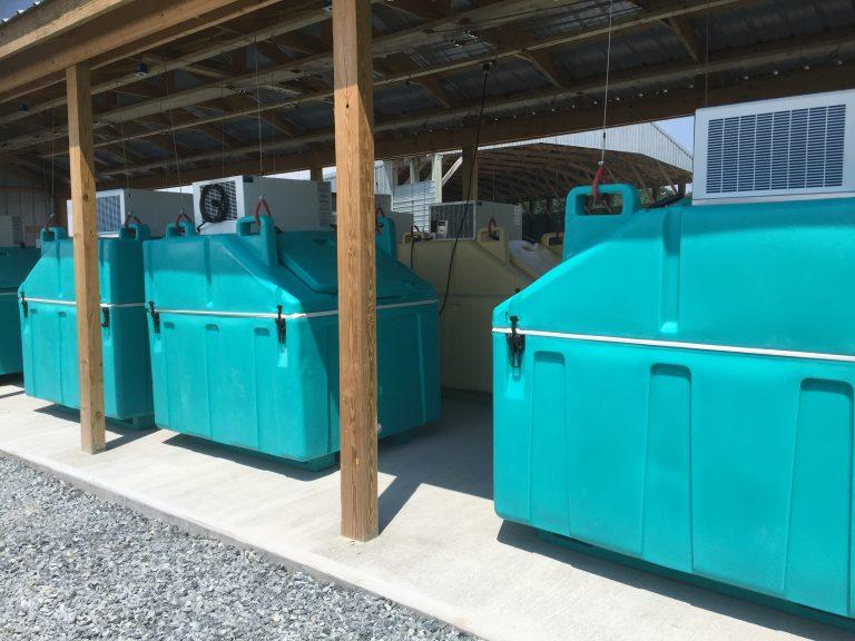 On farm freezer units (Zoe Read/WHYY)