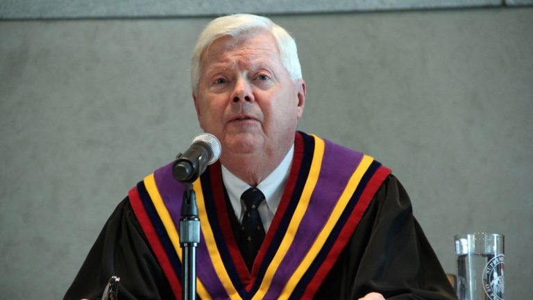 Pennsylvania Supreme Court Chief Justice Thomas G. Saylor wrote for the majority in the decision that stripped the School Reform Commission of its power to cancel provisions of the state school code. (NewsWorks file photo)