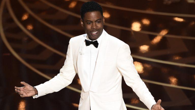 Host Chris Rock speaks at the Oscars on Sunday
