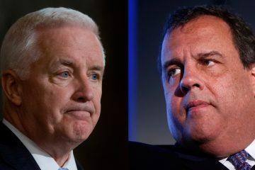 Pa. Gov. Tom Corbett and N.J. Gov. Chris Christie both face budget deadlines. (AP photos)