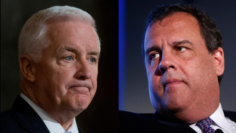 Pa. Gov. Tom Corbett and N.J. Gov. Chris Christie both face budget deadlines. (AP photos)