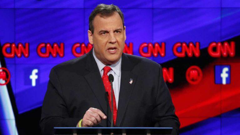 New Jersey Gov. Chris Christie speaks at a presidential debate in December. (John Locher/AP Photo)