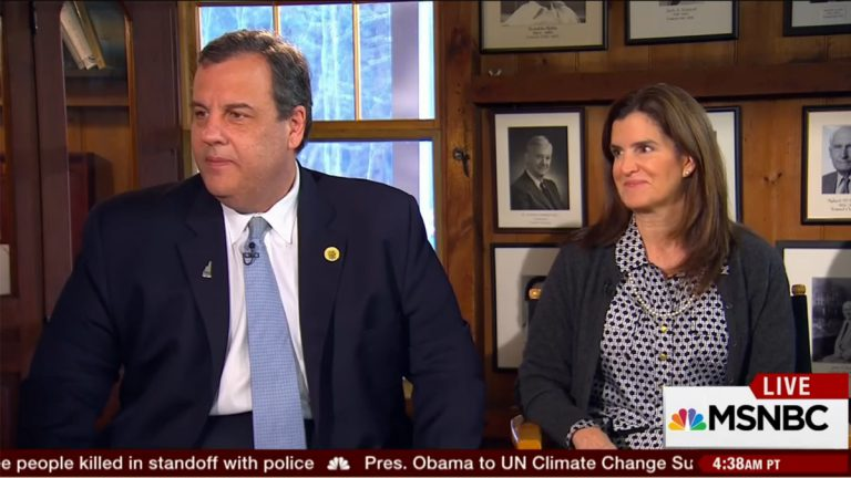 Republican presidential nominee Chris Christie and New Jersey First Lady Mary Pat Foster appeared on the Dec. 1 edition of MSNBC's 'Morning Joe.'