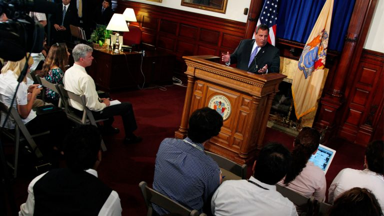 N.J. Gov. Chris Christie at a 2011 press conference. (AP Photo/Mel Evans, file)