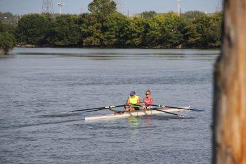 Kayakers on the Christina River