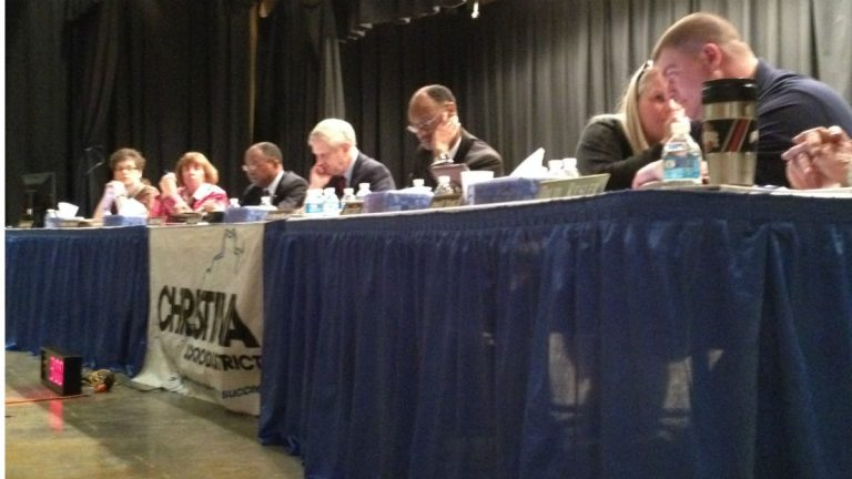 Christina School Board meeting (Avi Wolfman-Arent/WHYY)