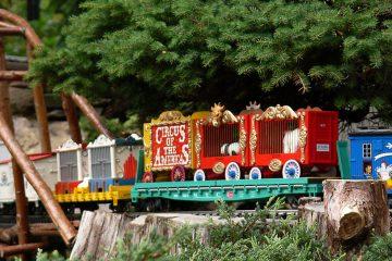 Catch Circus Week at Morris Arboretum. The summer garden railway