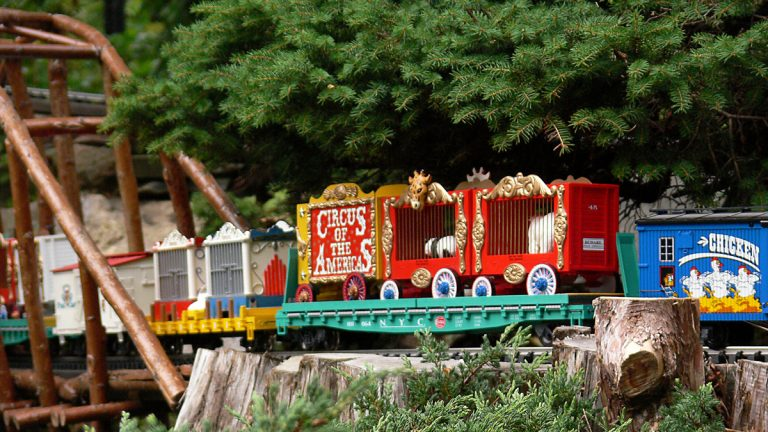 Catch Circus Week at Morris Arboretum. The summer garden railway
