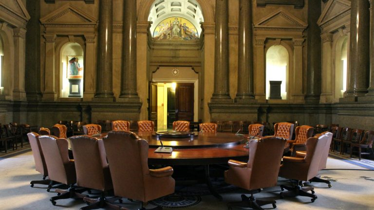 City Council Caucus Room in Philadelphia's City Hall (Emma Lee/WHYY)
